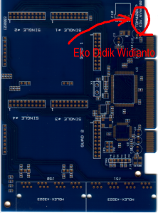 :: PCB Interface PCI untuk VoIP Gateway 8-port telah siap diassembly::